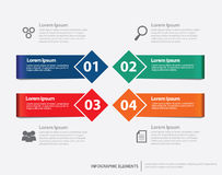 Elementos cuadrados de Infographic de la cinta Fotos de archivo libres de regalías