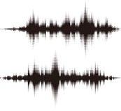 Elementos cuadrados de semitono del vector. Ondas acústicas del vector Fotos de archivo