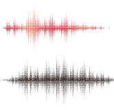 Elementos cuadrados de semitono del vector. Ondas acústicas del vector Fotografía de archivo libre de regalías