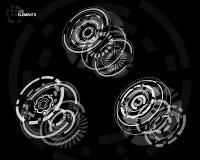 elementos curcular futuristas de 3D HUD Fotografia de Stock Royalty Free