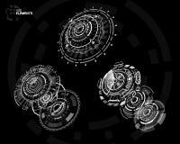 elementos curcular futuristas de 3D HUD Fotos de Stock