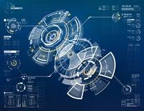 elementos curcular futuristas de 3D HUD Fotos de Stock Royalty Free