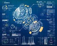 elementos curcular futuristas de 3D HUD Fotografia de Stock
