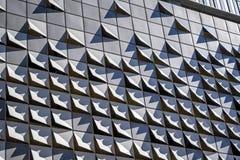 Elementos curvados da decoração da construção de vários andares moderna fotografia de stock royalty free