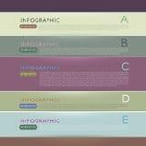 Elementos 3d infographic de papel abstratos Fotografia de Stock
