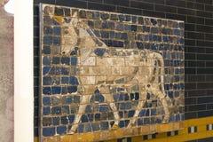Elementos da antiguidade da parede Babylonian foto de stock royalty free