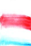 Elementos da aquarela para o projeto Pintura abstrata Textura da pintura da mão Imagens de Stock