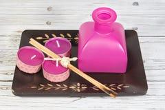 Elementos da aromaterapia Imagem de Stock