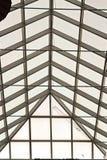 Elementos da arquitetura moderna de vidro, de aço e de concreto Vista das construções foto de stock royalty free