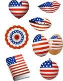 Elementos da bandeira americana Fotografia de Stock Royalty Free