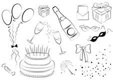 Elementos da celebração. Vetor ilustração royalty free