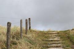Elementos da cerca na praia Imagem de Stock Royalty Free