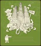 Elementos da cidade - vetor Foto de Stock Royalty Free