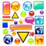 Elementos da coleção para o Web Imagem de Stock Royalty Free