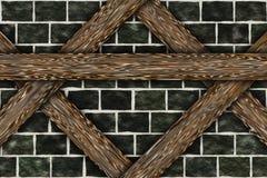 Elementos da construção do chalé do quadro de madeira Fotografia de Stock