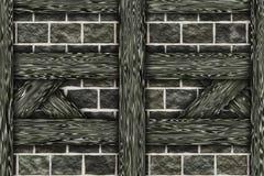 Elementos da construção do chalé do quadro de madeira Imagens de Stock Royalty Free