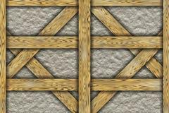 Elementos da construção do chalé do quadro de madeira Foto de Stock