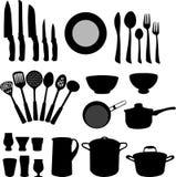 Elementos da cozinha - vetor Fotografia de Stock Royalty Free
