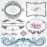 Elementos da decoração Foto de Stock Royalty Free