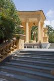 Elementos da decoração das escadas gregas fotografia de stock
