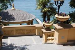 Elementos da decoração das escadas gregas Fotografia de Stock Royalty Free