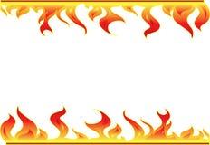 Elementos da decoração do incêndio Fotografia de Stock Royalty Free