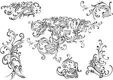 Elementos da decoração do vetor Foto de Stock Royalty Free