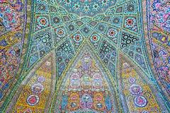 Elementos da decoração da mesquita de Nasir Ol-Molk, Shiraz, Irã Foto de Stock Royalty Free