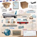 Elementos da distribuição e do transporte Fotografia de Stock