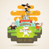 Elementos da doçura ou travessura de Dia das Bruxas Imagem de Stock Royalty Free