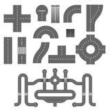 Elementos da estrada ilustração royalty free