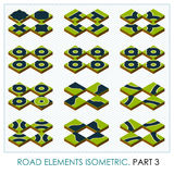 Elementos da estrada isométricos Fotos de Stock Royalty Free