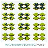 Elementos da estrada isométricos Foto de Stock