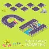Elementos da estrada isométricos Fonte da estrada Letras G e Fotos de Stock Royalty Free