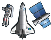 Elementos da exploração do espaço Fotografia de Stock Royalty Free