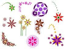 Elementos da flor ilustração royalty free