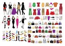 elementos da forma para mulheres Fotografia de Stock