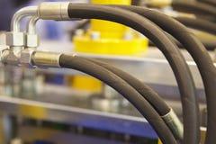 Elementos da hidráulica e da pneumática das conexões tranquilas fotos de stock royalty free