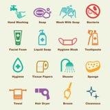 Elementos da higiene ilustração stock