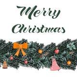 Elementos da ilustração do Natal do vetor do molde ilustração do vetor