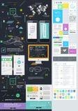 Elementos da interface de utilizador para o design web Imagem de Stock