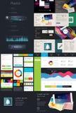 Elementos da interface de utilizador para o design web Foto de Stock Royalty Free
