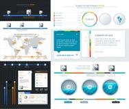 Elementos da interface de utilizador para o design web Fotografia de Stock Royalty Free