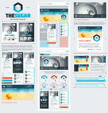 Elementos da interface de utilizador para o design web Fotos de Stock