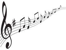 Elementos da música Foto de Stock