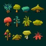 Elementos da natureza dos desenhos animados Foto de Stock