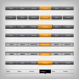 Elementos da navegação da Web Imagens de Stock Royalty Free