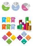 Elementos da navegação do molde do design web: Botões da navegação com ornamento Fotos de Stock