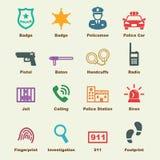 Elementos da polícia Fotos de Stock Royalty Free