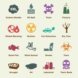Elementos da poluição Imagem de Stock